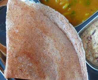 how to prepare chola dosai /sorgam (jowar) dosa