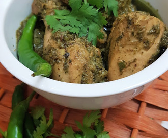 Green Chicken Karahi