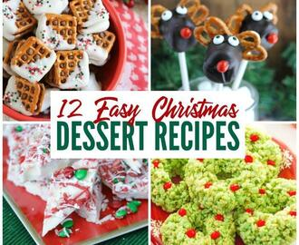 12 Easy Christmas Dessert Recipes
