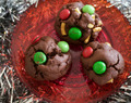 Easy chocolate Christmas biscuits – perfect for school Christmas parties