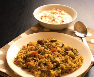 South Indian veg pulao recipe | vegetable pulao recipe