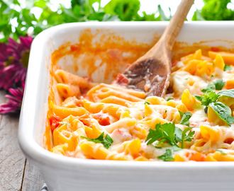 Dump-and-Bake Penne alla Vodka