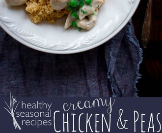 creamy chicken and peas