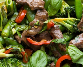 Lime Beef and Basil Stir Fry (Cookbook Preview)