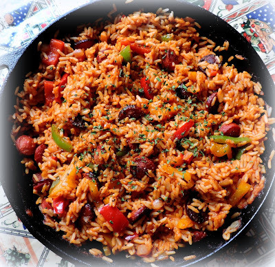 Spicy Sausage, Peppers & Rice