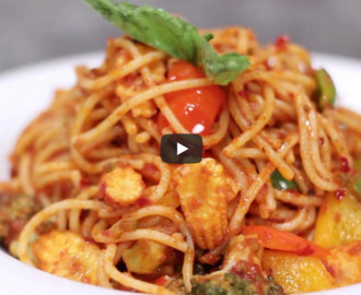 Spaghetti with Arrabiata Sauce Recipe Video