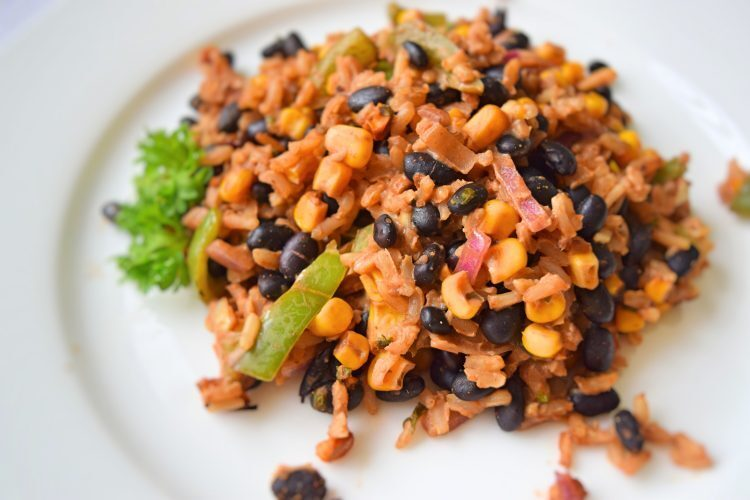 Black beans and rice casserole