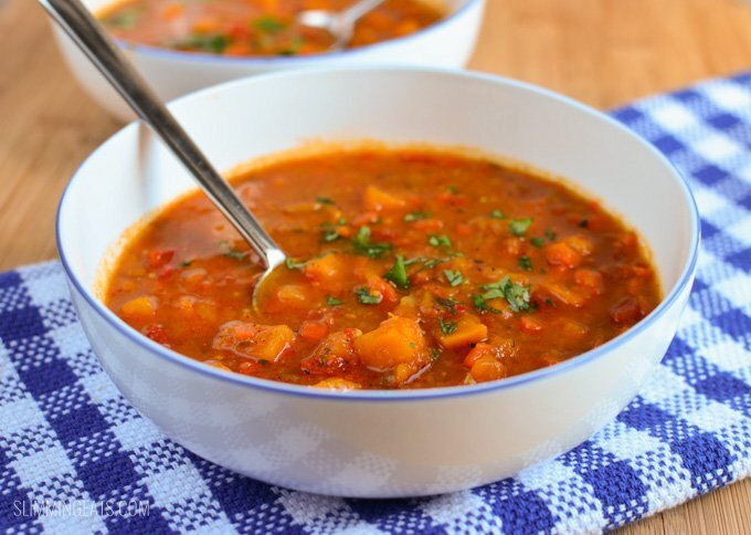 Syn Free Spicy Sweet Potato, Red Pepper and Carrot Soup