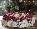 Berry and Chocolate Meringue Wreath
