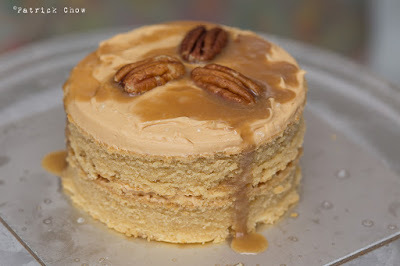 Salted caramel peanut butter mini layer cake