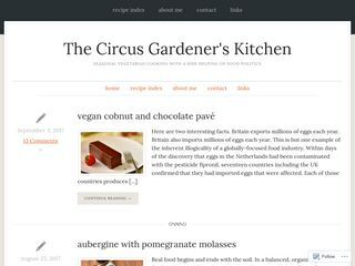 The Circus Gardener's Kitchen | seasonal vegetarian cooking with a side helping of food politics