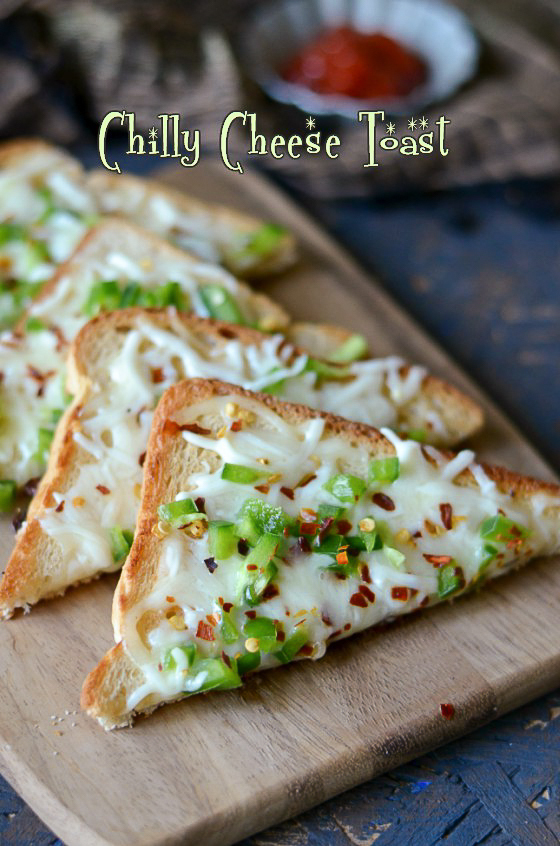 Chilly Cheese Toast/Chilli Cheese Toast