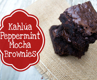 Kahlua Peppermint Mocha Brownies