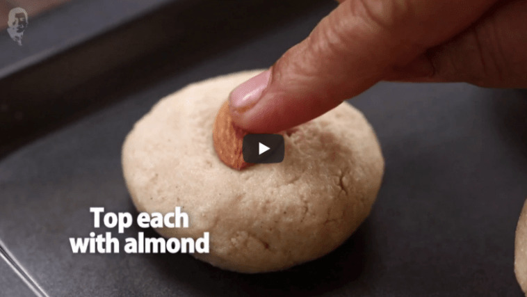 Eggless Almond Cookies Recipe Video