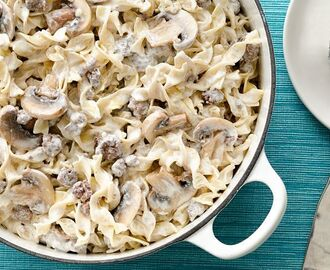 One-Pot Creamy Beef Stroganoff