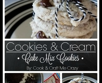 Cookies & Cream Cake Mix Cookies