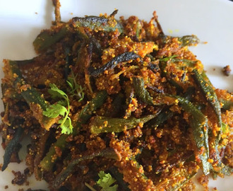 Baked Kurkure Bhindi | Vegan and GF snack