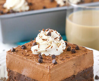 Baileys Chocolate Mousse Brownie Cake