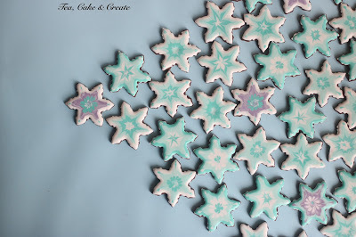 Wet-on-Wet Snowflake Cookies