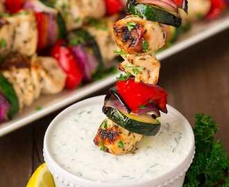 Greek Chicken Kebabs with Tzatziki Sauce - Cooking Classy