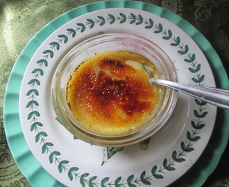 Lemon  curd cream brulee    Cream brulee de limón)