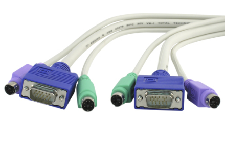 ISOTECH KVM Cable 3-in-1 VGA M/M - PS/2 M/M 3m