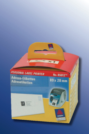 AVERY labels on rolls 89x28mm For one-at-a-time label printe 260 labels/pack
