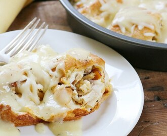 Chicken Cordon Bleu Crescent Bake