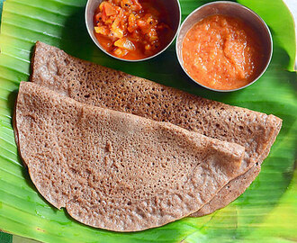 Red Rice Dosa Recipe – Sigappu Arisi Pirandai Dosai