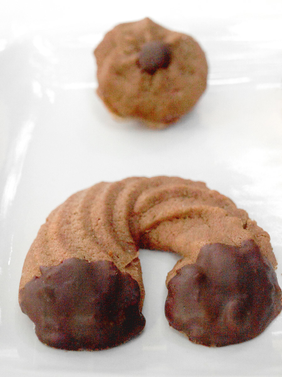 Chocolate Spritz Cookies Recipe – How to Press Cookies [+Chocolate Dipped variety]