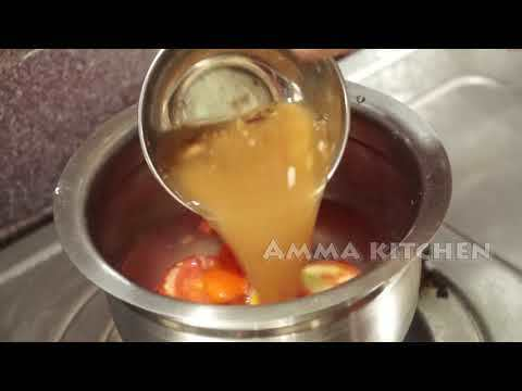 Tomato rasam recipe | Tomato charu in Telugu by Amma Kitchen- Latest Ind...