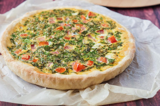 Lebanese Egg Pie with Vegetables Recipe