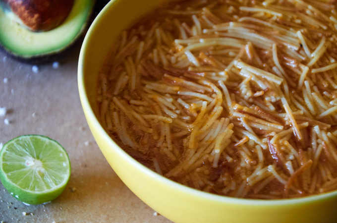 Traditional Sopa de Fideo