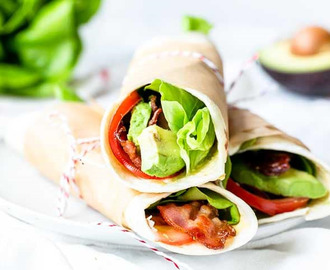 Easy BLT wraps