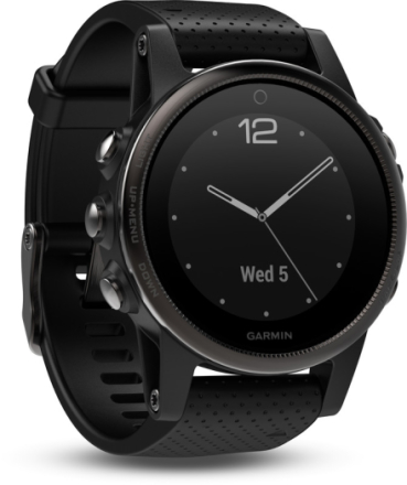 Garmin Fenix 5S Sapphire GPS Watch Black 2017 Outdoorklockor