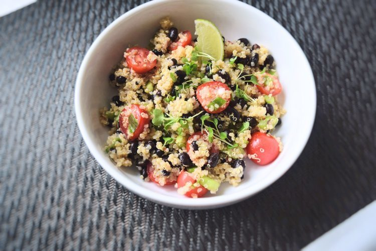 Quinoa and bean salad