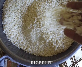 Rice Puff making by Indian woman only  in 8 seconds
