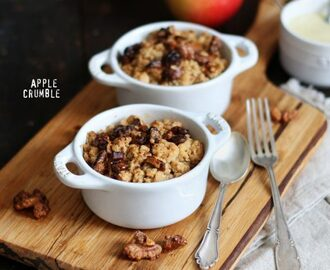 Maple Walnut Apple Crumble