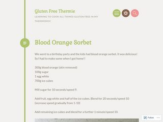 Gluten Free Thermie | Learning to cook all things Gluten Free in my Thermomix!