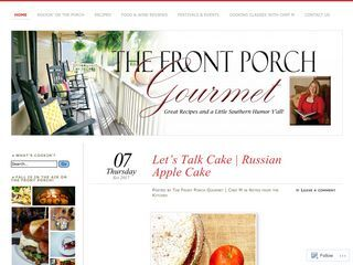 The Front Porch Gourmet | ep·i·cu·re·an (p-ky-rn, -kyr-)