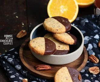Orange Pecan Chocolate Cookies