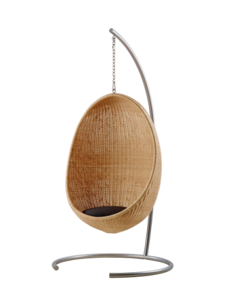 Hanging egg chair Skin on Nature