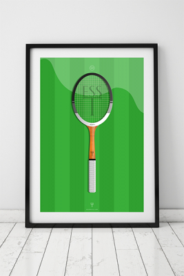 Ess tennis orginalillustration racket