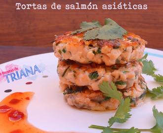 Tortas de salmón asiáticas (Quick Asian fishcakes)