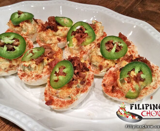 Jalapeno Cheddar Bacon Deviled Eggs