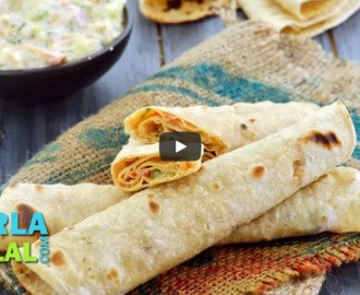 Chapati Roll with Vegetables Recipe Video