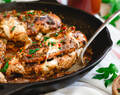 Tomato Butter Mozzarella Stuffed Chicken Marsala