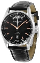 Certina C006.430.16.051.00 DS 1 Svart/Läder Ø39 mm