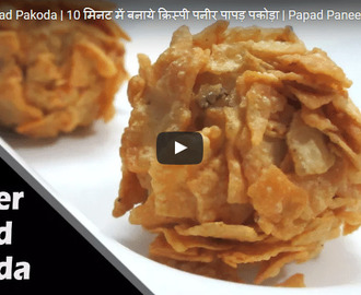 Paneer Papad Pakoda Recipe Video