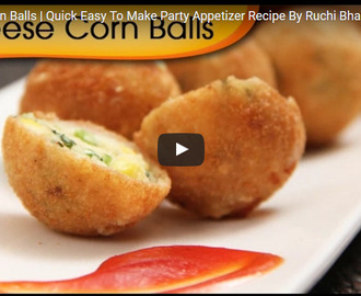 Cheese Corn Balls Recipe Video